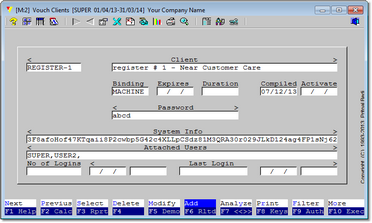 And this is how a completed entry to generate a client machine key will look like.